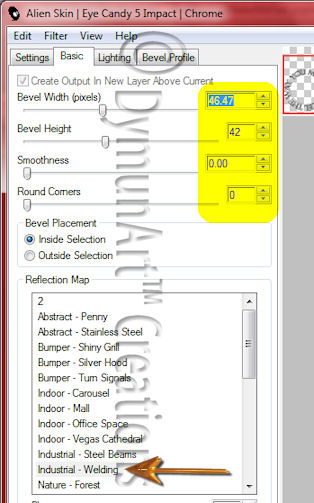 Eye Candy 5 Impact - Chrome diagram
