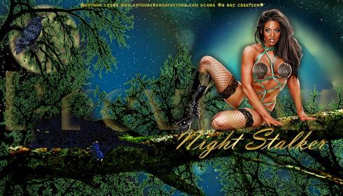 Night Stalker desktop wallpaper © Arthur Crowe download and preview